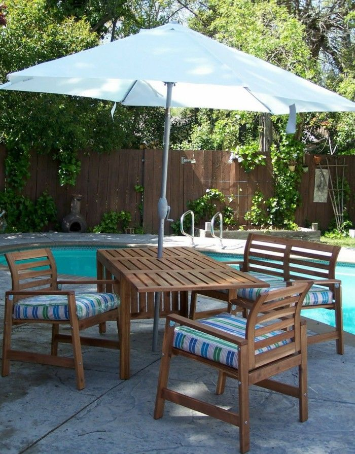 Attirant Patio Furniture And Umbrellas From Ikea