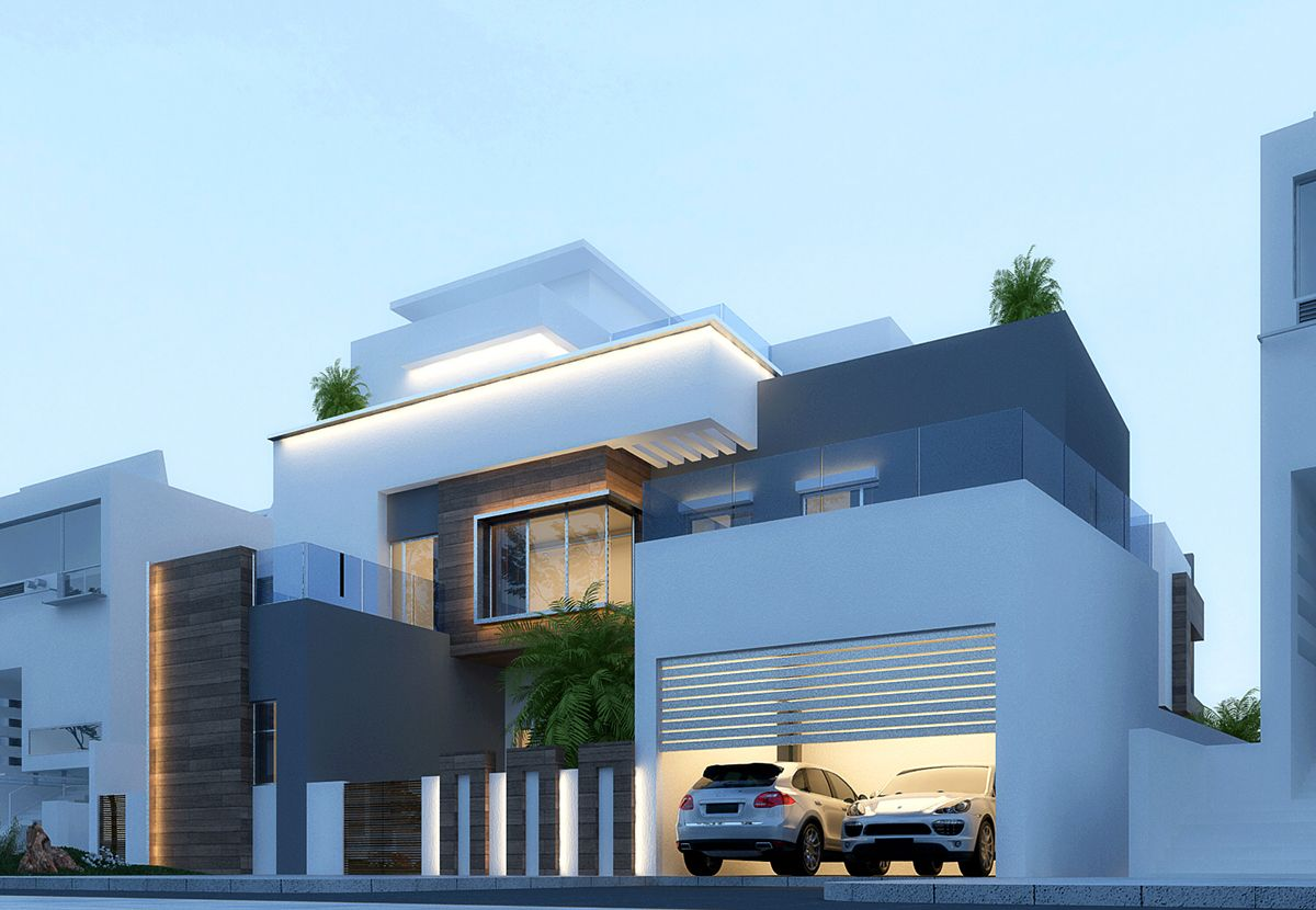 Modern villa in dubai on behance