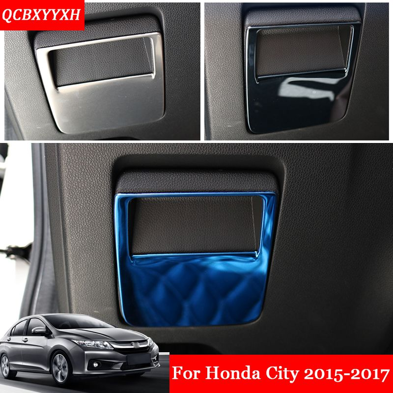 Car Styling Small Storage Box Handle Stickers Decoration Trims Frame  Sequins For Honda City Auto Accessories