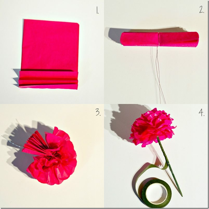 1000+ images about tissue paper flowers on Pinterest | Tissue ...