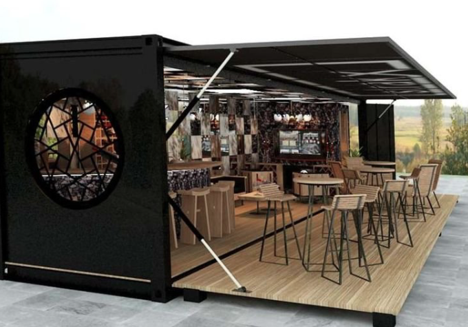 Seven Shipping Containers Brilliantly Transformed Into Mobile Kitchens Florida S Custom Manufacturer Of F Container Coffee Shop Container Cafe Container Shop