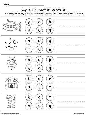 47+ 3 letter words ending with at worksheets Online