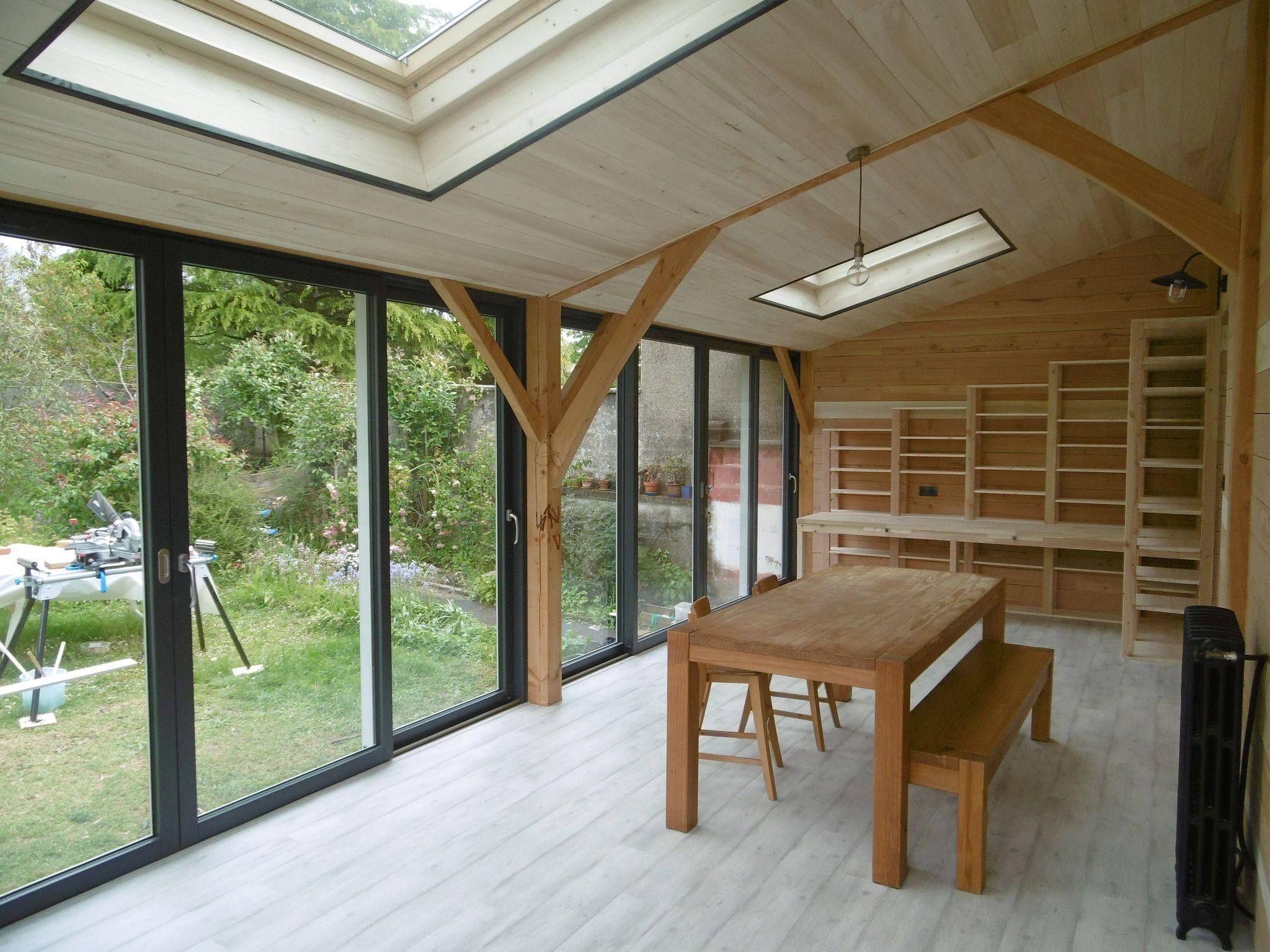 vérandas bois et mixte par www.boisetpaille.fr (avec images) | Veranda bois, Extension ossature ...