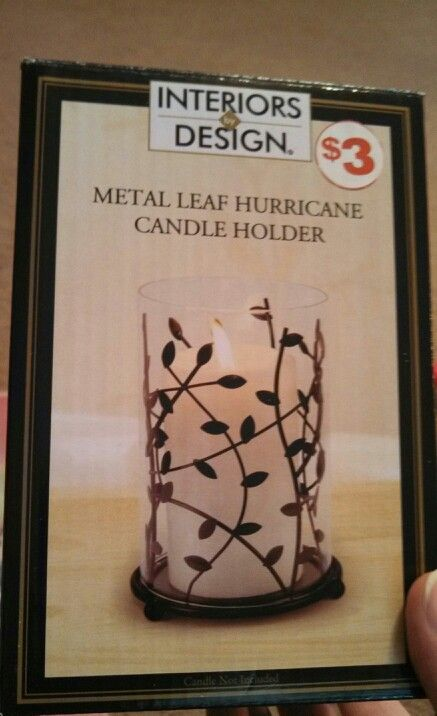 Metal Leaf Hurricane Candle Holder Family Dollar