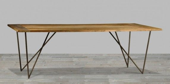 The Reclaimed Dining Tables Buy Reclaimed Dining Tables Silver With Regard  To Dining Table Metal Legs Prepare