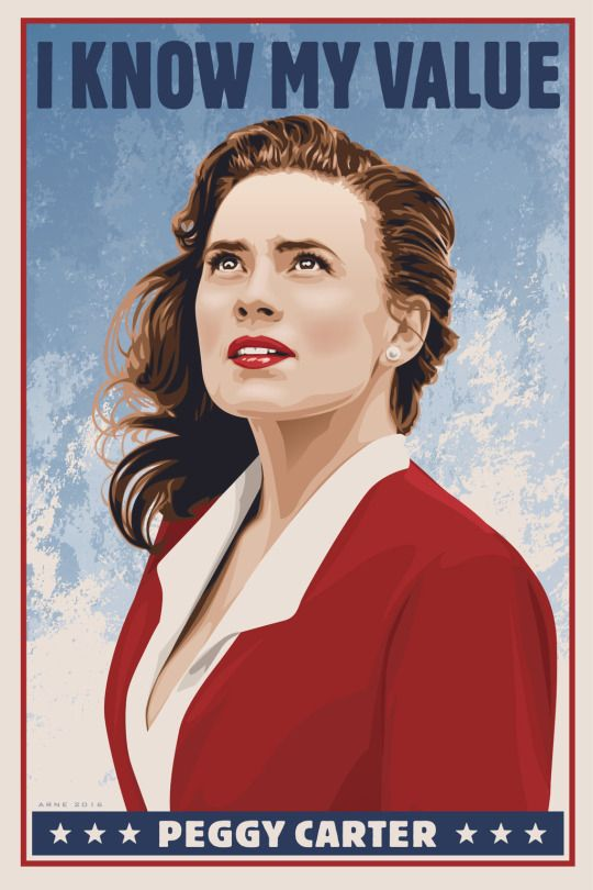 Peggy Carter - recruitment poster style.