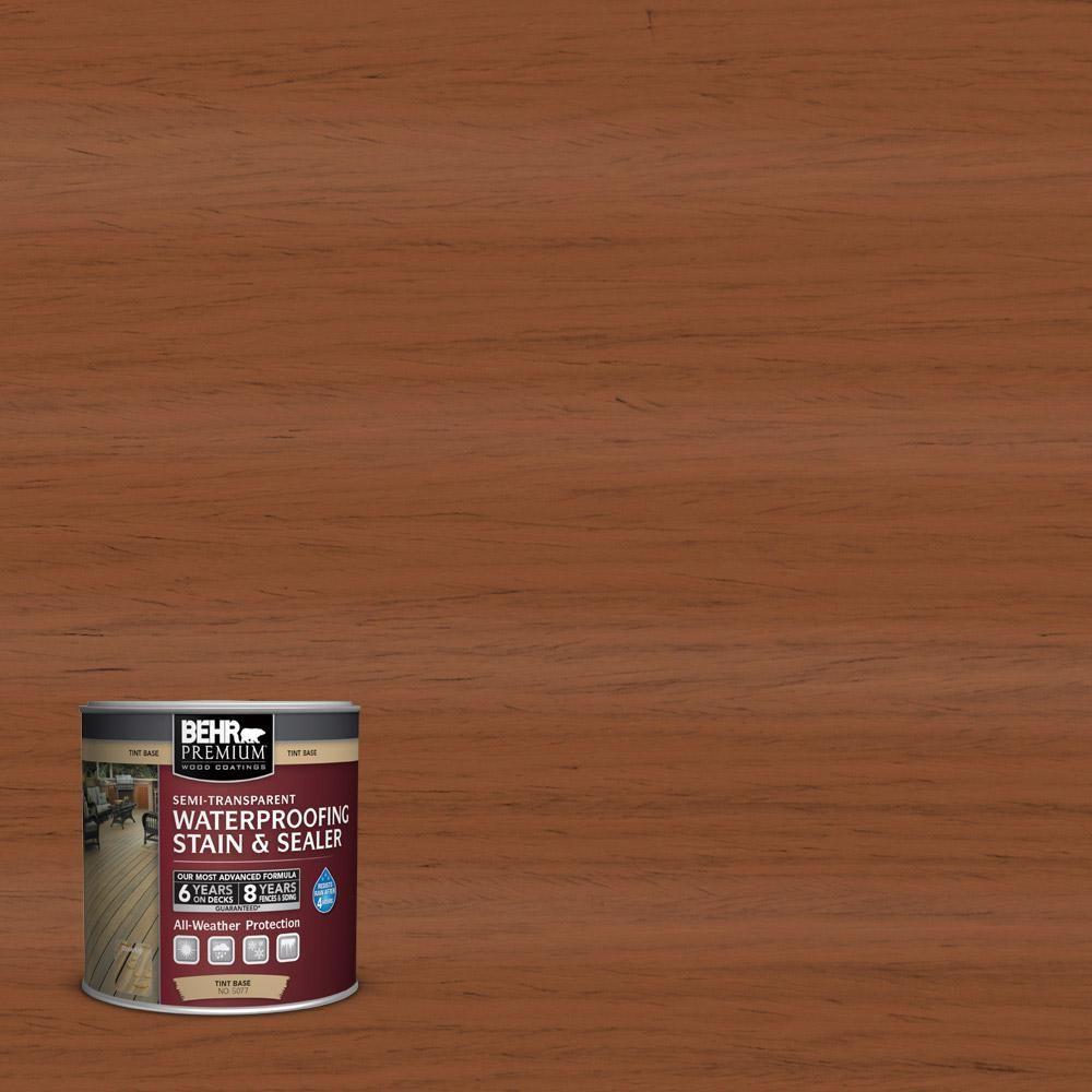 Behr Premium 8 Oz St 122 Redwood Naturaltone Semi Transparent