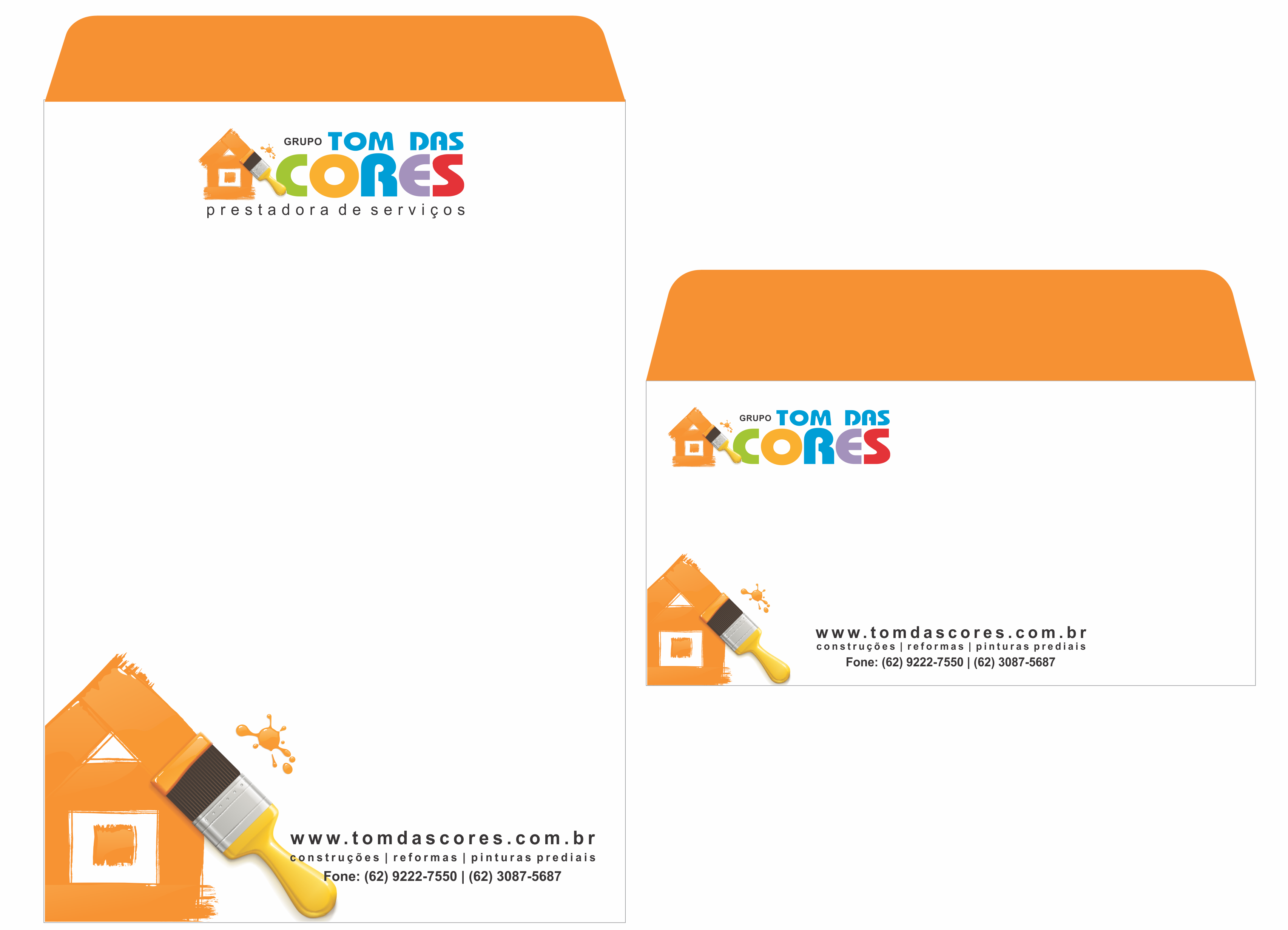 Arte E Diagramao De Envelope Saco Carta Para Grupo Tom Das Cores