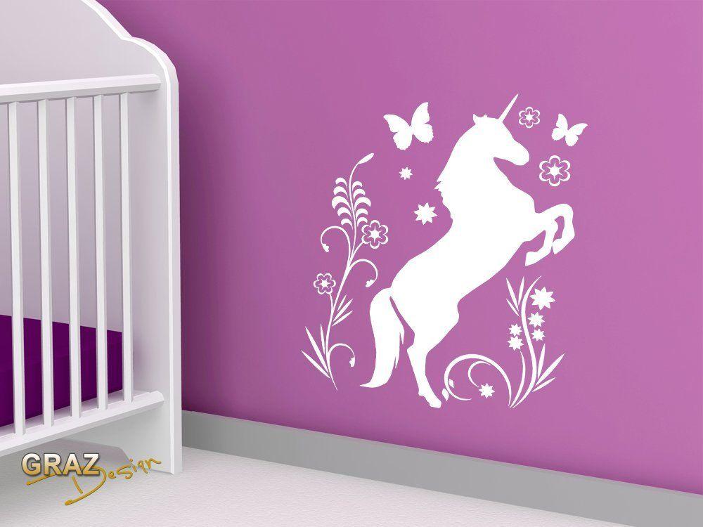 Einhorn Kinderzimmer Unicorn Einhorn Wandtattoo