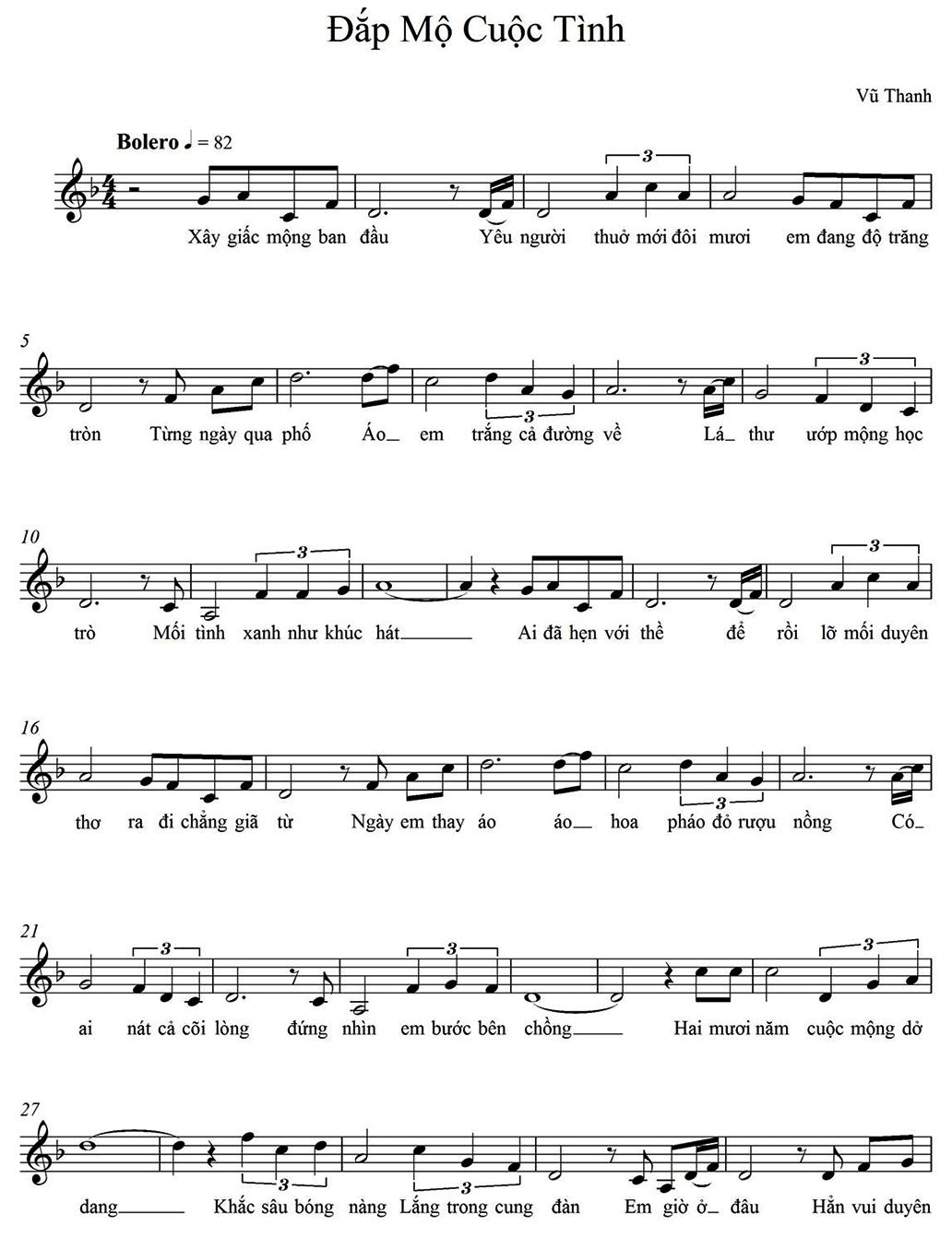 đắp Mộ Cuộc Tinh Sheet Nhạc Hợp Am Bản Nhạc Co Nốt Bản Nhạc Am Nhạc Học Tập