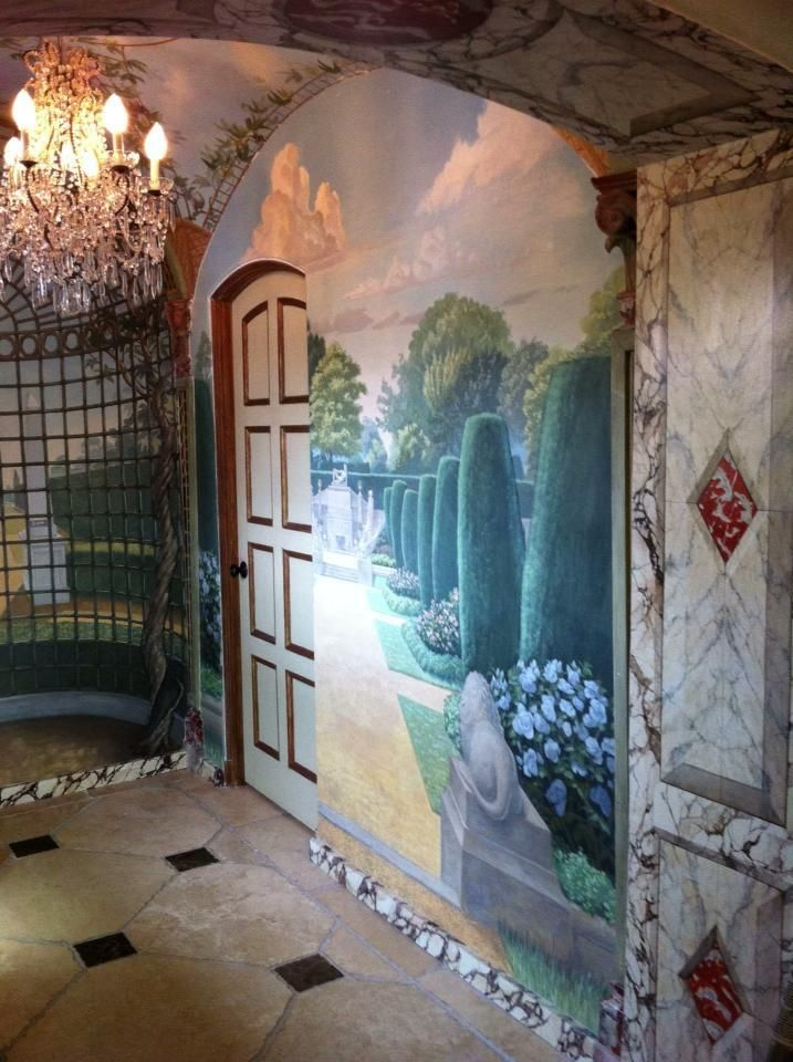 Steve Shriver Painted wall mural Wall murals painted