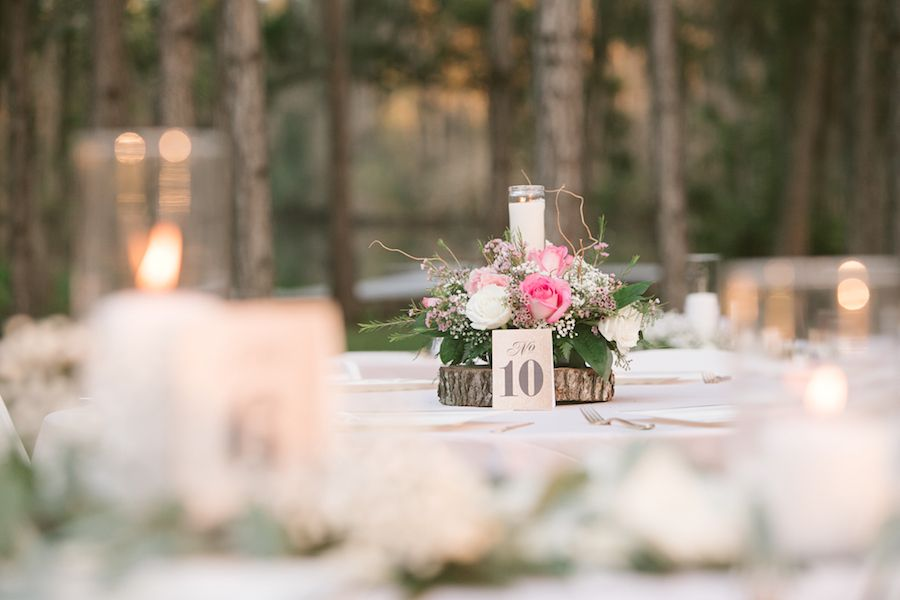 Rustic Glam Gold Pink Outdoor Wedding In The Woods