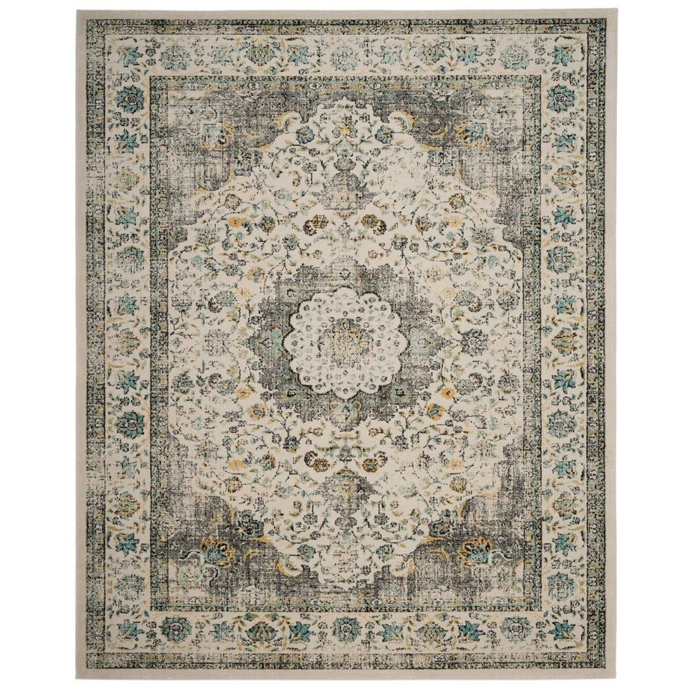 Safavieh Evoke Gray Gold 9 Ft X 12 Ft Area Rug Evk220b 9 With