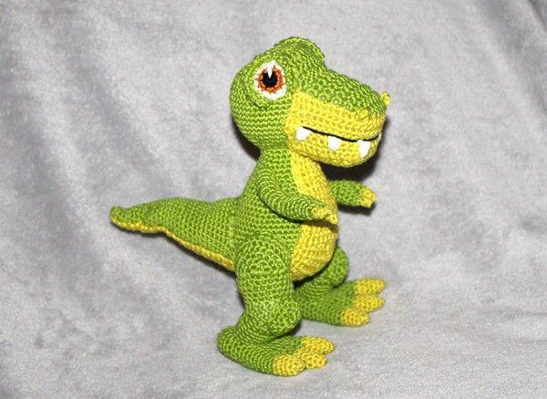 Häkelanleitung Dinosaurier - 2 Größen - Amigurumi | 437x600