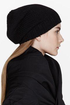 137e886c4d751 RICK OWENS Black Knit Medium Beanie on shopstyle.com