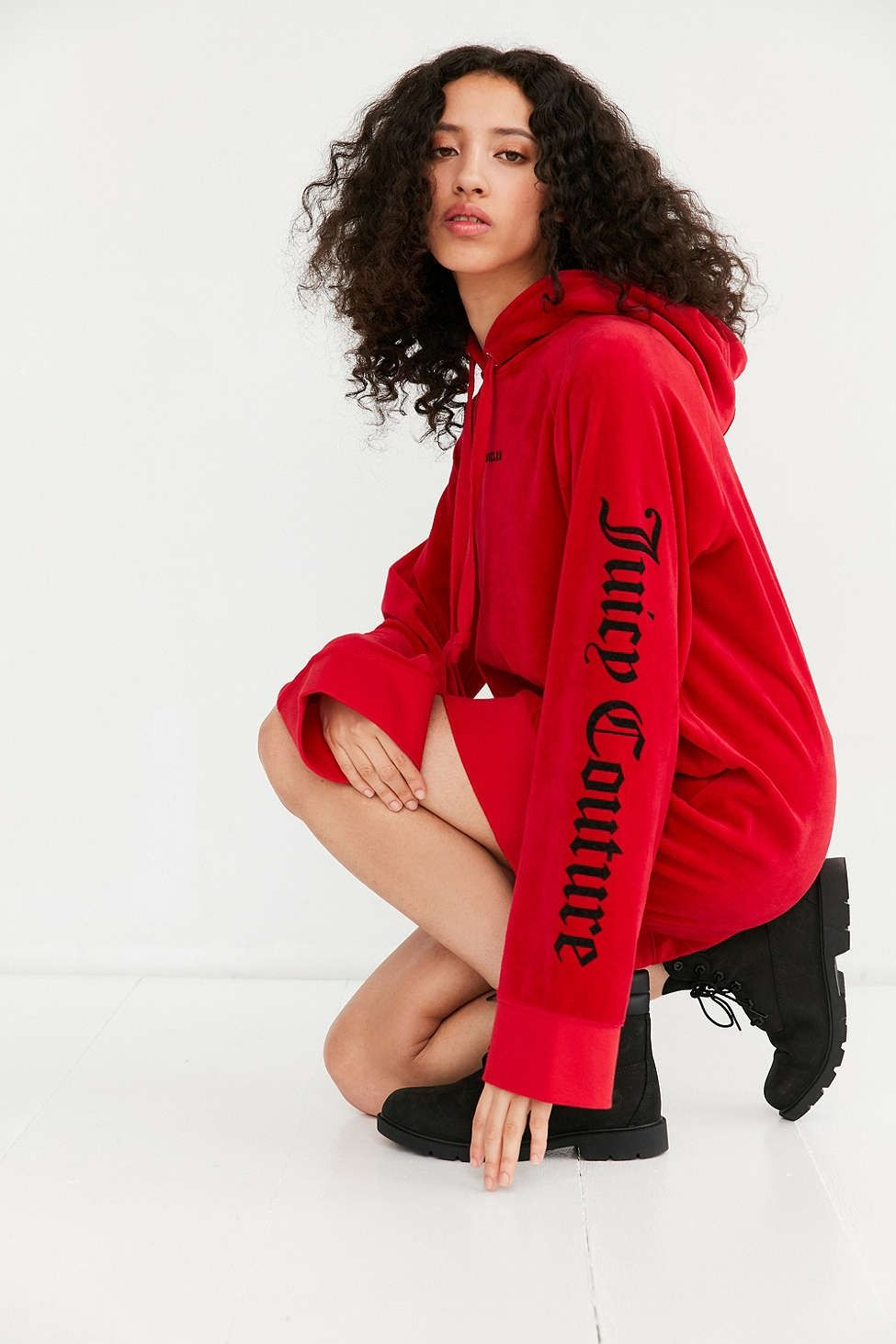 c62b6ab313 Juicy Couture For UO Oversized Velour Hoodie - Urban Outfitters
