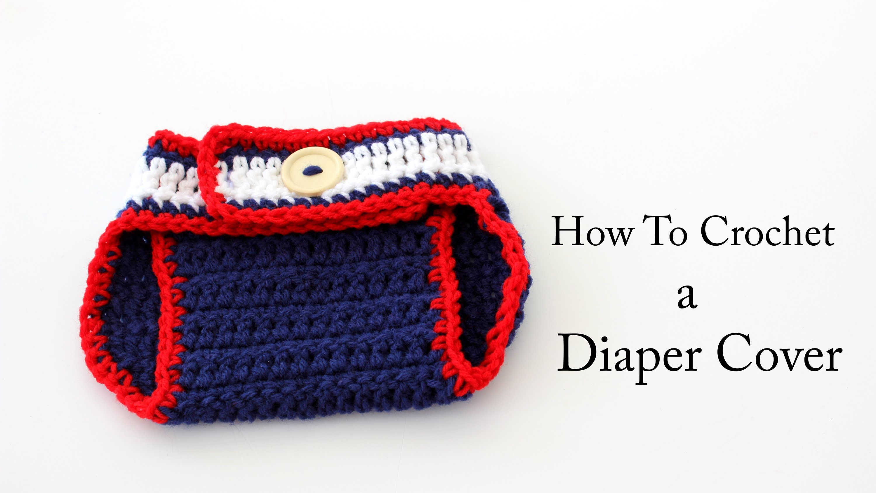 How To Crochet a New England Patriots Diaper Cover https://www ...
