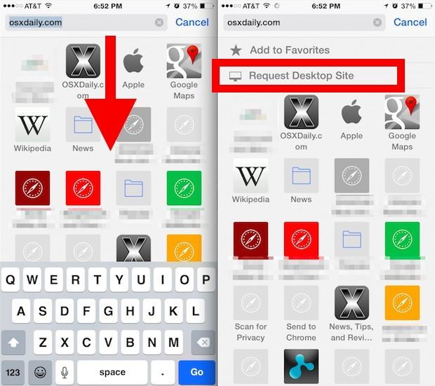 How To View A Full Desktop Website In Safari For Iphone Iphone