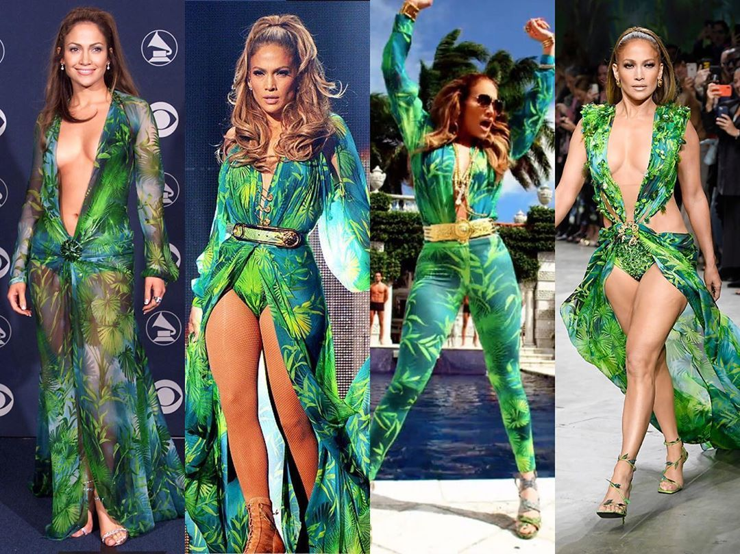 Diet Prada On Instagram Maj Moment At Milan Fashion Week Jlo Closes Versace In The Green Dress That Launched Google Images But Let S Not Pretend It S [ 809 x 1080 Pixel ]