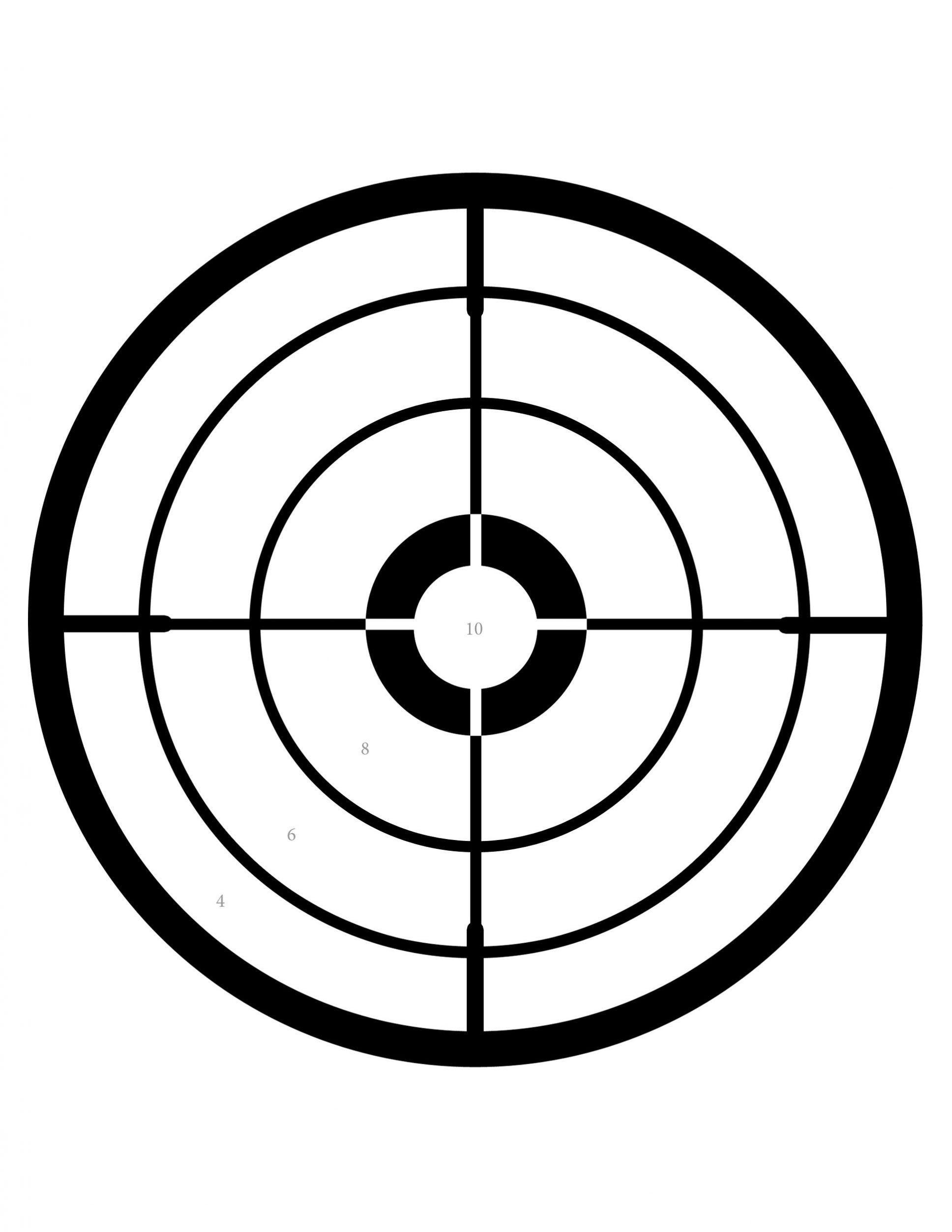 free printable shooting target # 26