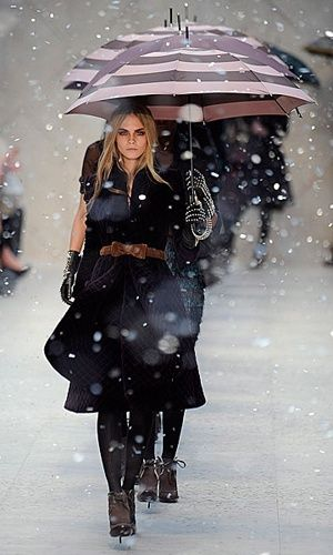 British Model Cara Delevingne London Fashion Week Autumn Winter 2012 Show Report Burberry