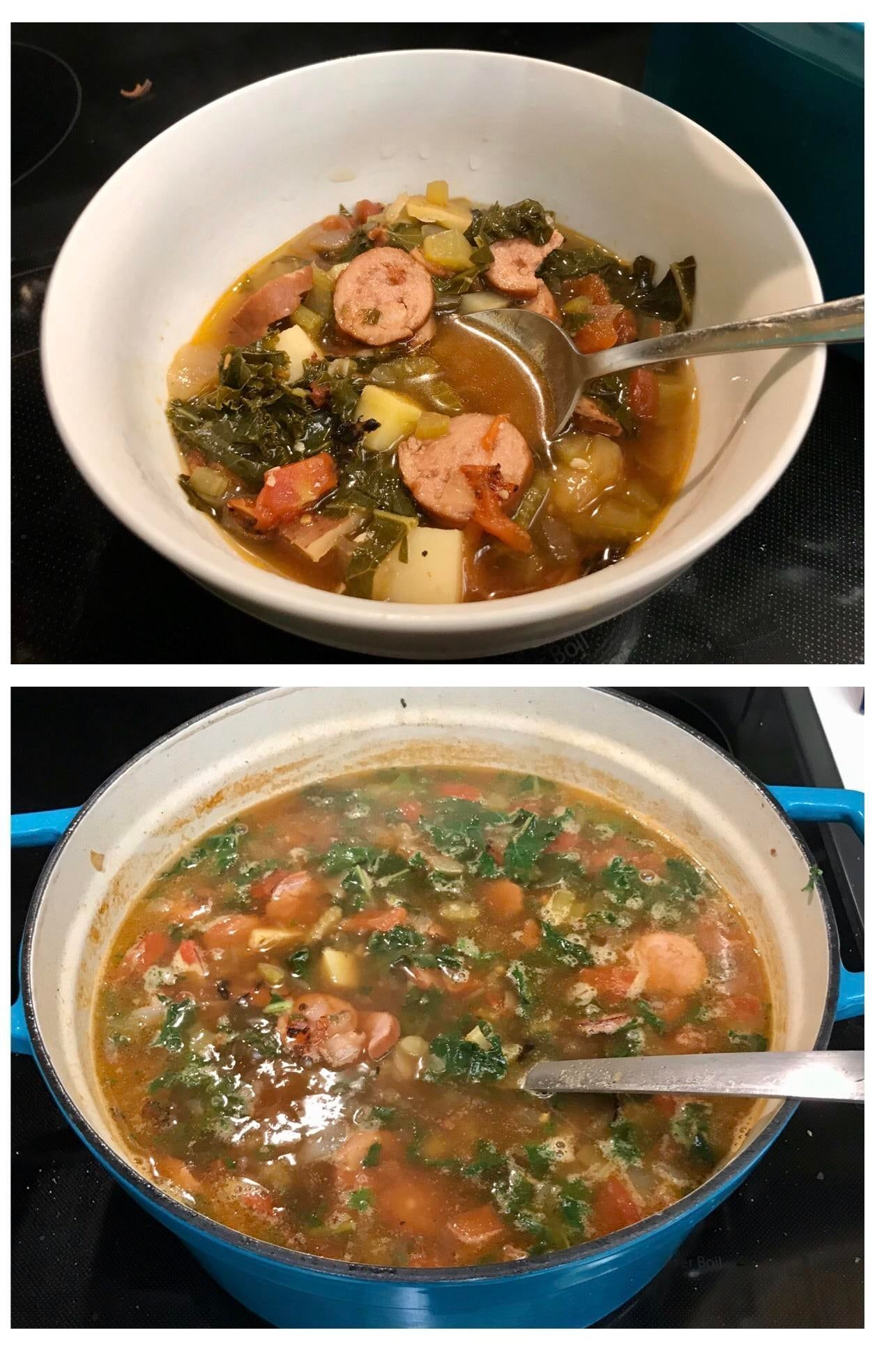 #Recipes — Sausage Kale and Roasted Tomato soup. Great for cold weather conditions — frustra... #coldweatherfood Sausage Kale and Roasted Tomato soup. Great for cold weather conditions — frustrating —  #FoodPic #FoodPicsDaily #Lunch #MealPrep #coldweatherrecipes #Recipes — Sausage Kale and Roasted Tomato soup. Great for cold weather conditions — frustra... #coldweatherfood Sausage Kale and Roasted Tomato soup. Great for cold weather conditions — frustrating —  #FoodPic #FoodPicsD #coldweatherrecipes