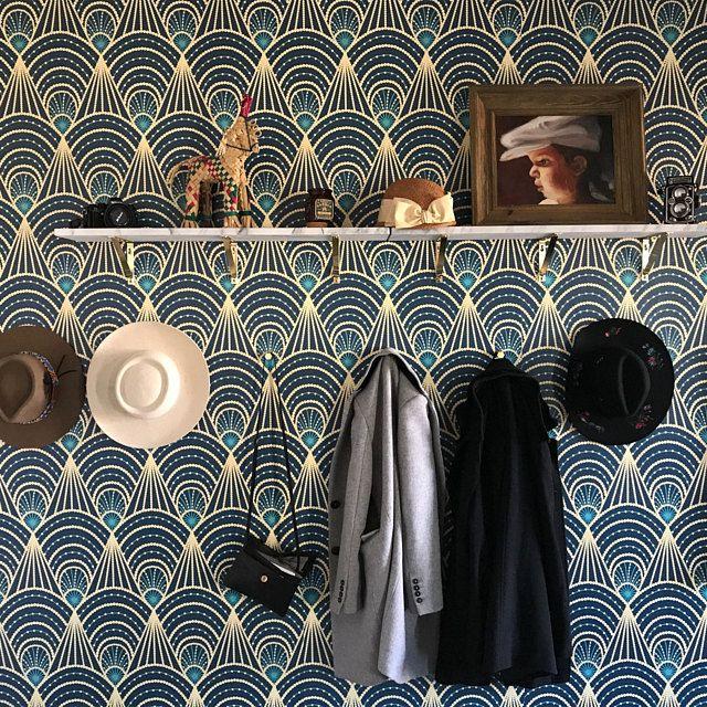 Removable Vinyl Wallpaper Festival Art Deco Self Adhesive Etsy Vinyl Wallpaper Cleaning Walls Wallcovering Pattern
