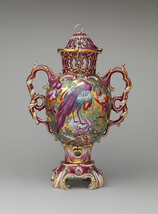Chelsea Porcelain Factory. Perfume vase, ca. 1761. British, Chelsea. The Metropolitan Museum of Art, New York. Gift of Irwin Untermyer, 1964 (64.101.510a, b)