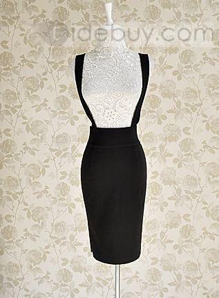 Romantic Slim Pure Color Korean Style Skirt : Tidebuy.com