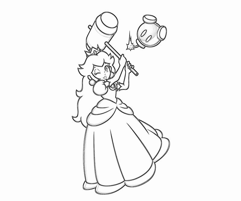 Princess Peach Coloring Page Luxury Princess Peach Peach Profil Mario Coloring Pages Princess Coloring Pages Super Coloring Pages