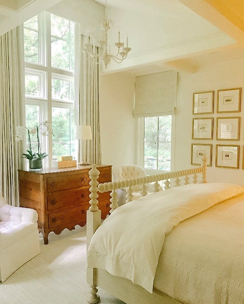 Phoebe Howard On Instagram The Master Bedroom From This Week S Install In The Low Country We Converted The French Com With Images Luxurious Bedrooms Home Bedroom Design