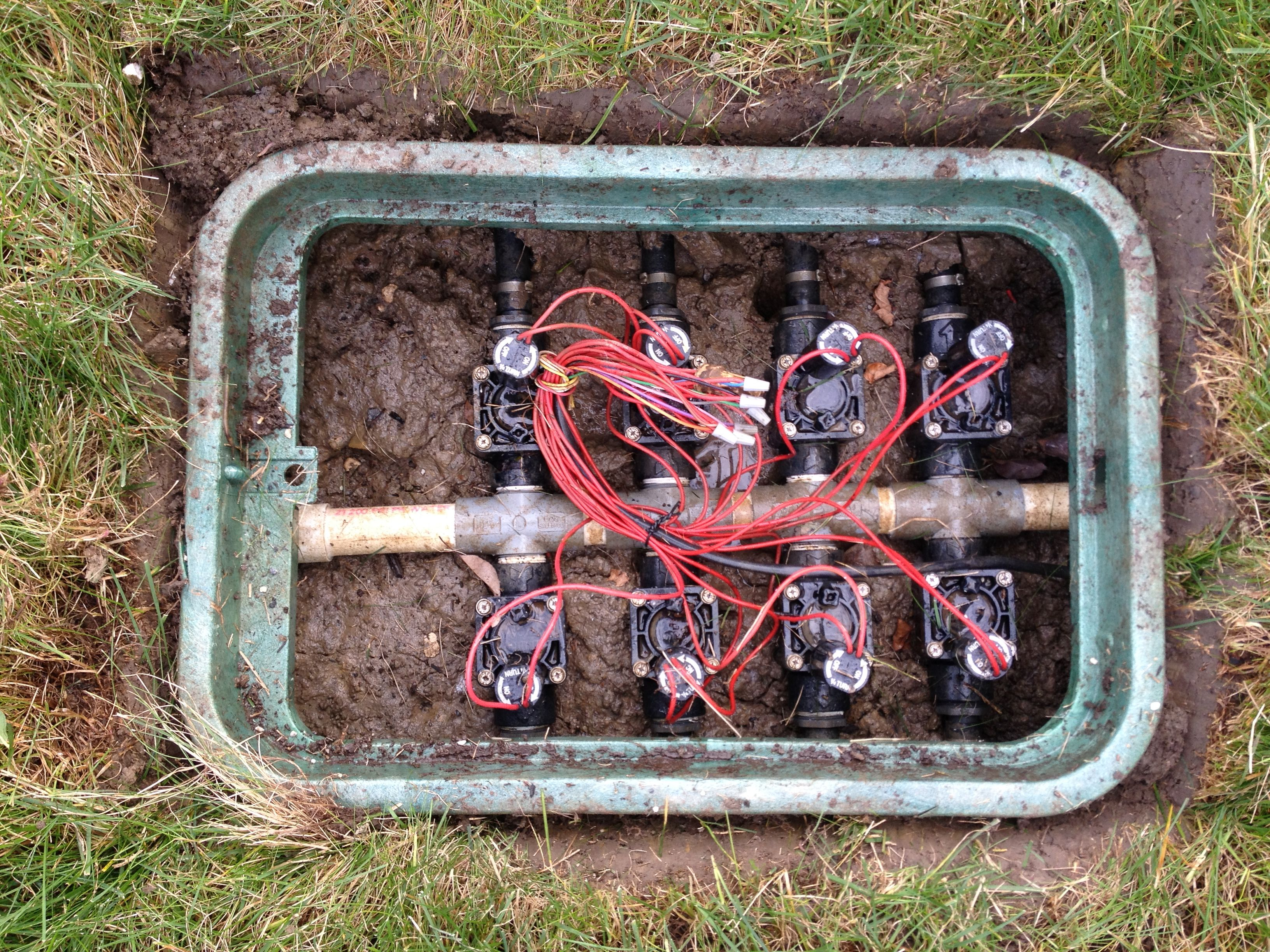 lawn sprinkler valve diagram residential electrical wiring diagrams the quotmanifold quot or box these are solenoid valves