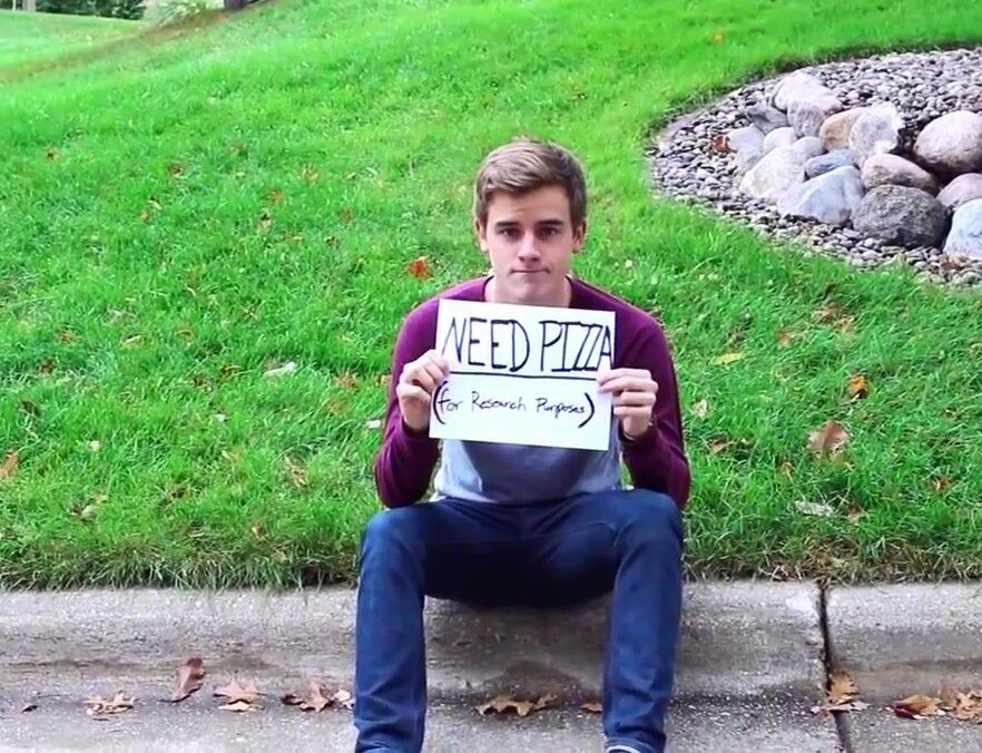 """If you where a hobo, what would your sign say?"" YES CONNOR YES"