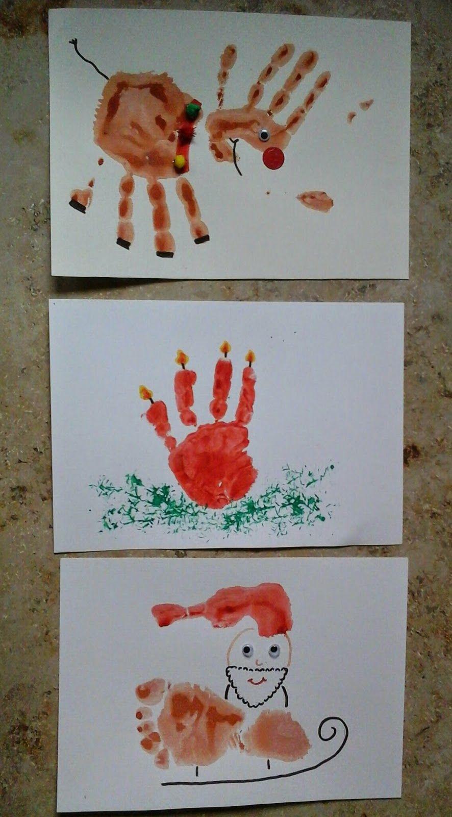 fr he bildung kinderleicht kinder basteln geschenke craft hand and footprint art. Black Bedroom Furniture Sets. Home Design Ideas