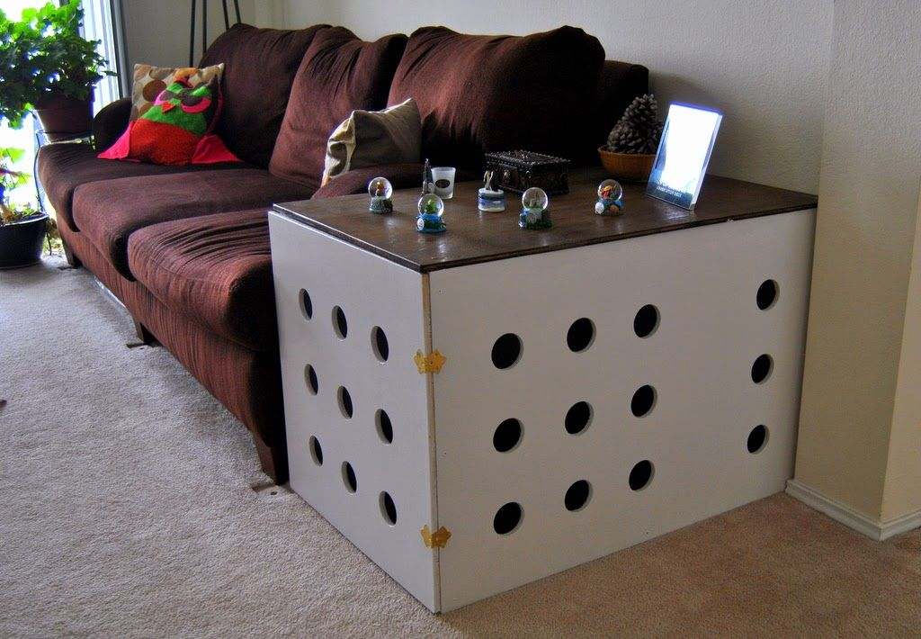 Diy dog crate end table do it yourself home projects