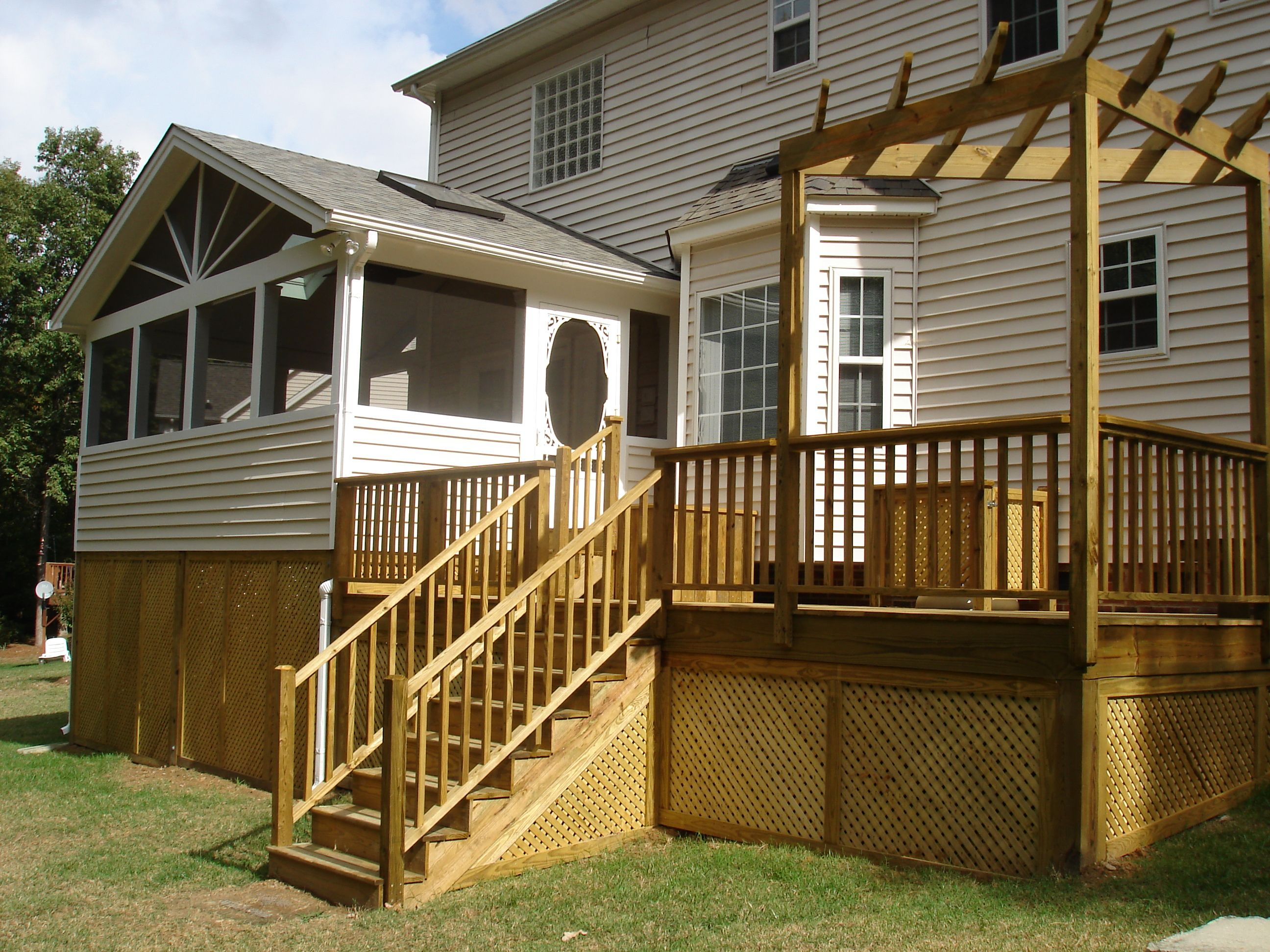 Screen Porch With Deck Screened Porches Raleigh Nc