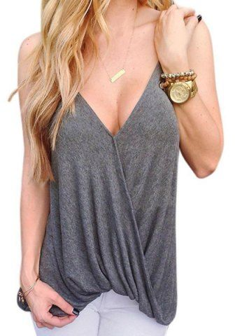 593240af8f Stylish Loose-Fitting Spaghetti Strap Solid Color Tank Top For Women ...
