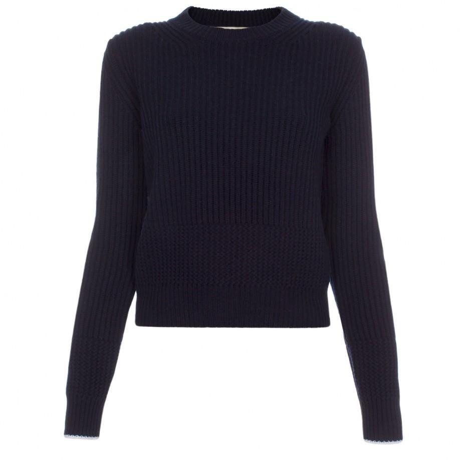 Paul Smith Women's Navy Chunky Ribbed Wool Sweater | sales ...