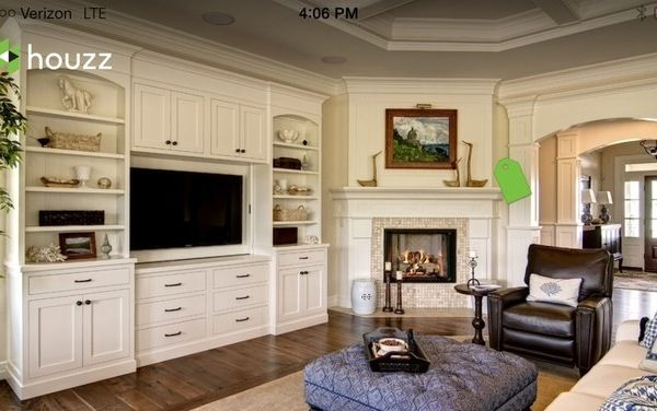 Room Ideas Corner Fireplace With TV Built Ins Next To It