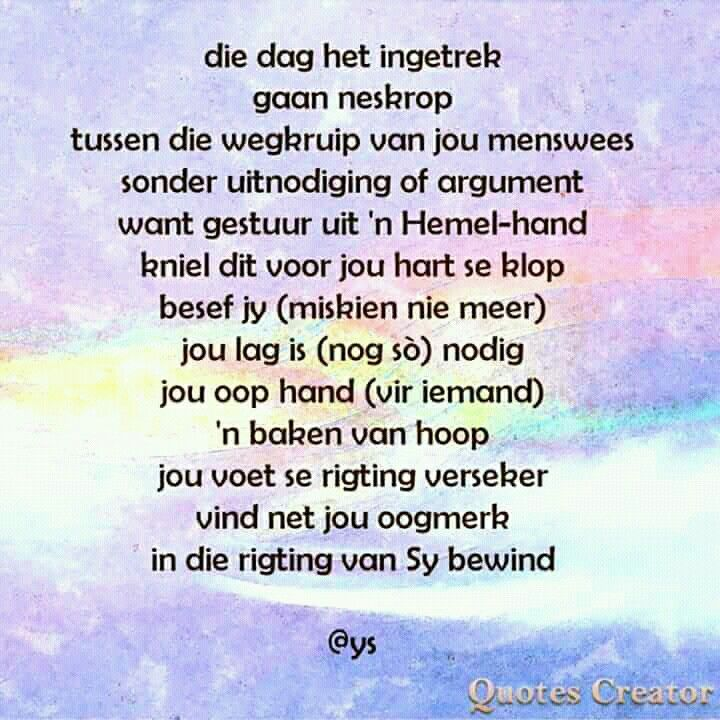 Pin by Betsie Van Der Merwe on Uit My Hart | Short poems ...