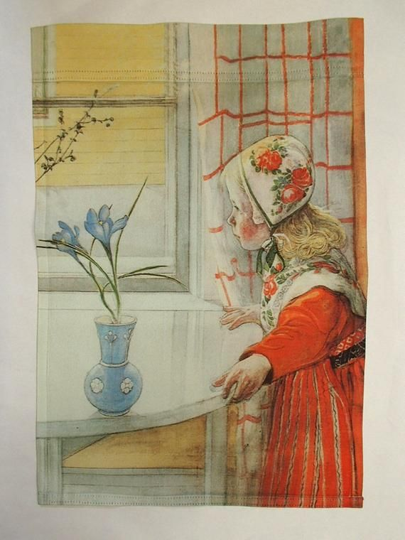 Scandinavian Artist Carl Larsson The Garden Window Counted Cross Stitch Pattern
