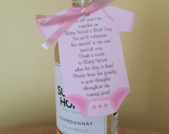 Baby Shower Onesie Shaped Favor Tags For Mini Champagne Bottle Or Other  Favor, Customized Onesie Tags For Favors, Baby Shower Favor Tag