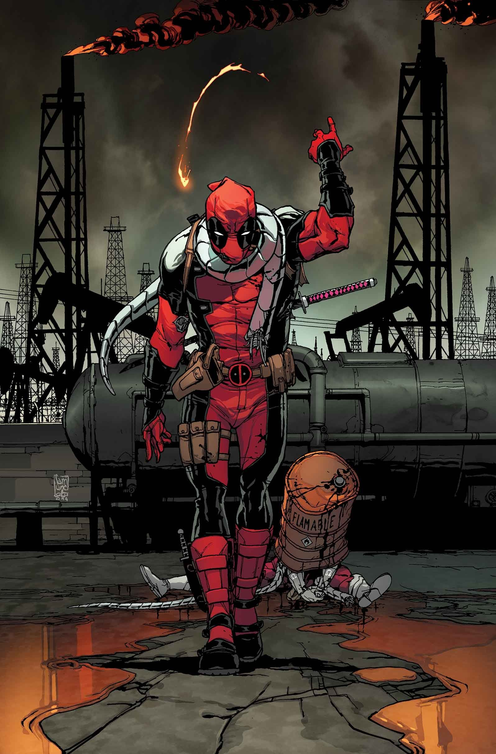 #Deadpool #Fan #Art. (Deadpool #43 Cover) By: Giuseppe Camuncoli. (THE * 5 * STÅR * ÅWARD * OF: * AW YEAH, IT'S MAJOR ÅWESOMENESS!!!™) ÅÅÅ+