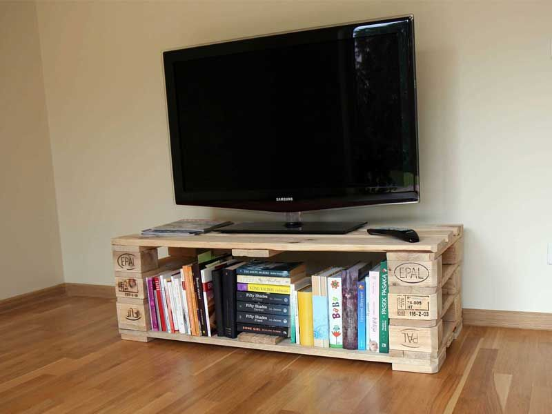 Tv Stand From Pallets With Secret Compartment I Always Wanted To Make Some  Furniture Item, With A Secret Compartment. This Pallet Project Was Very  Good Time ...