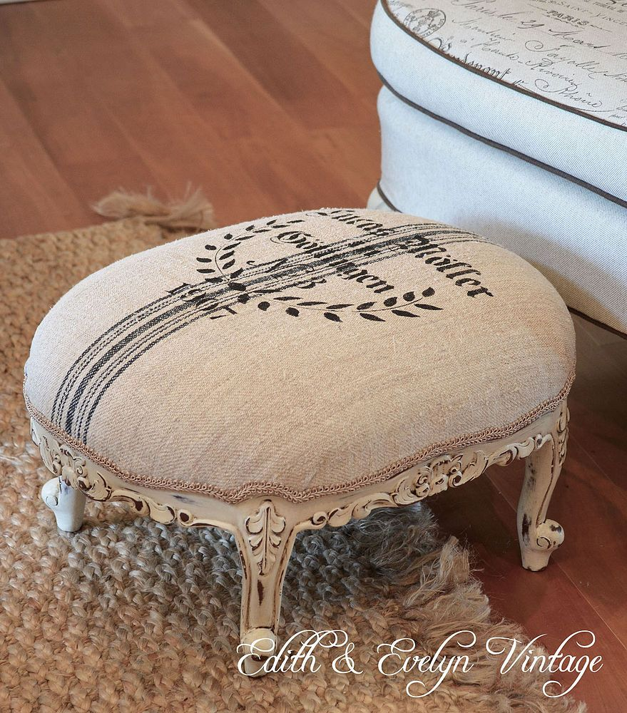 Grain Sack Foot Stool