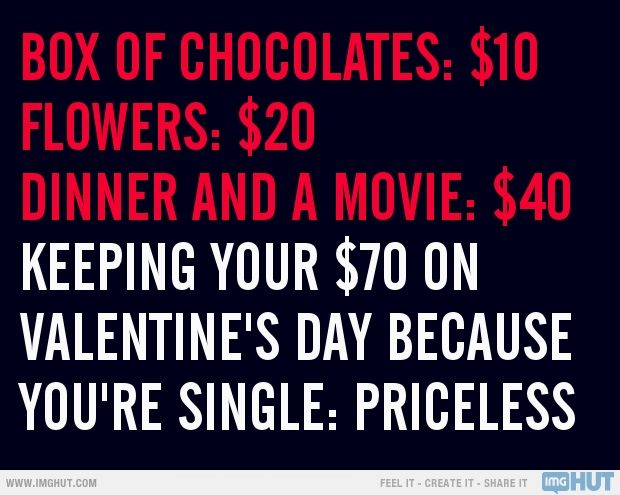 Funny Quotes About Valentines Day For Singles: I'm Not The Guy So I Wouldn't Have Payed Anyways ;) But I