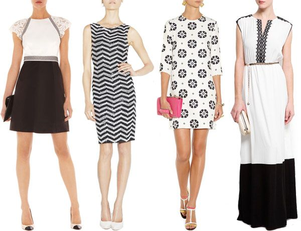 Black White Dress Wedding Guest : Black and white wedding guest outfits for read more