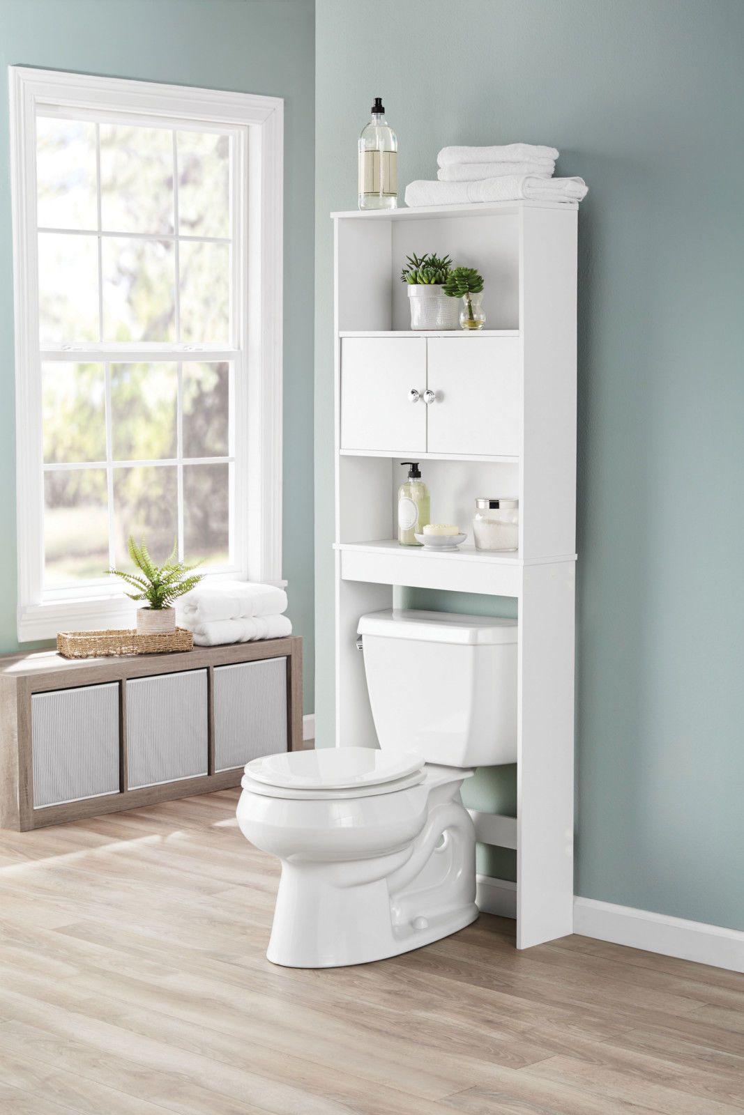 Mainstays Bathroom Over The Toilet Shelf White 43197160355 Ebay