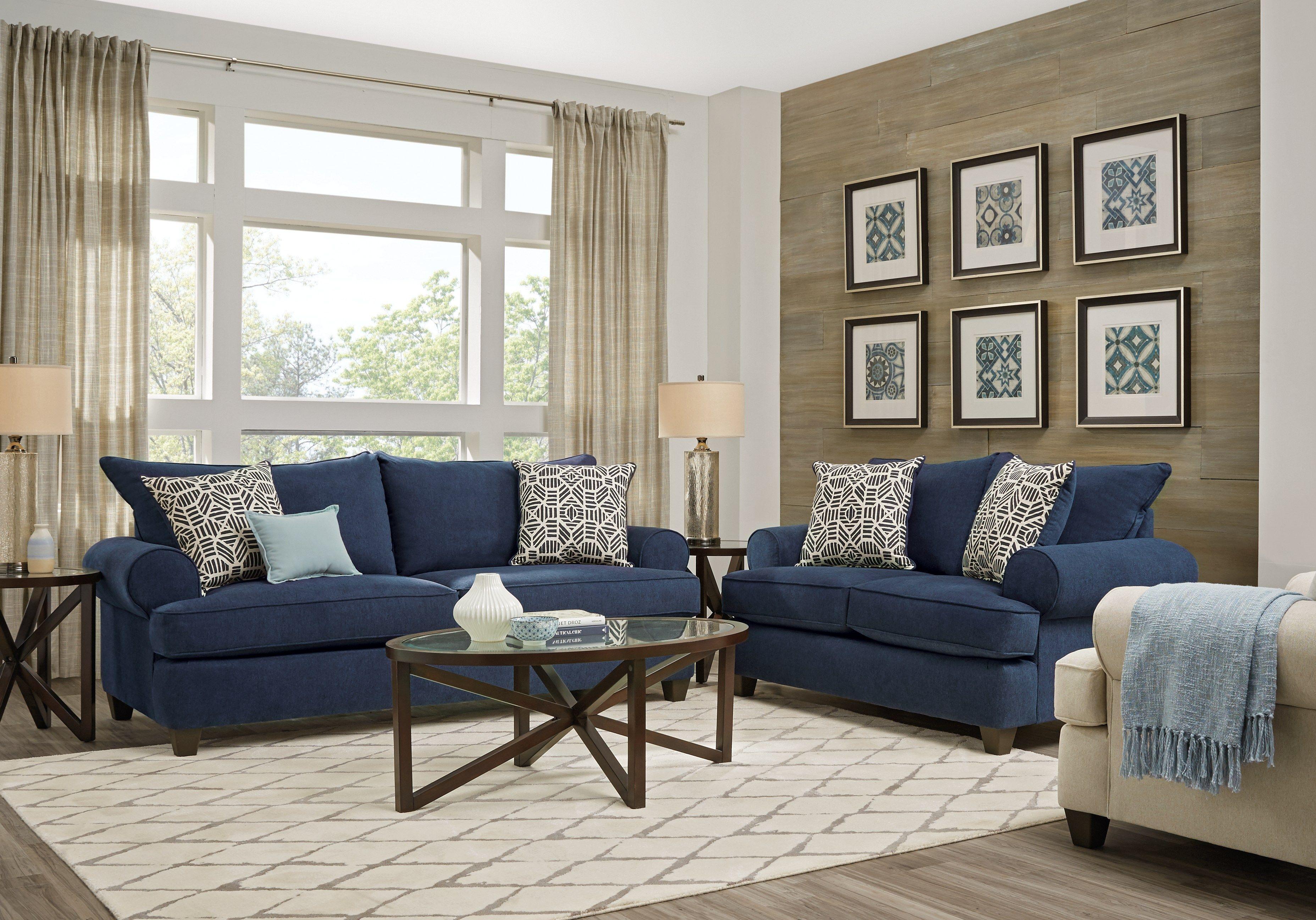 Emsworth Navy 5 Pc Living Room Blue Living Room Sets Living Room Suite Living Room Remodel