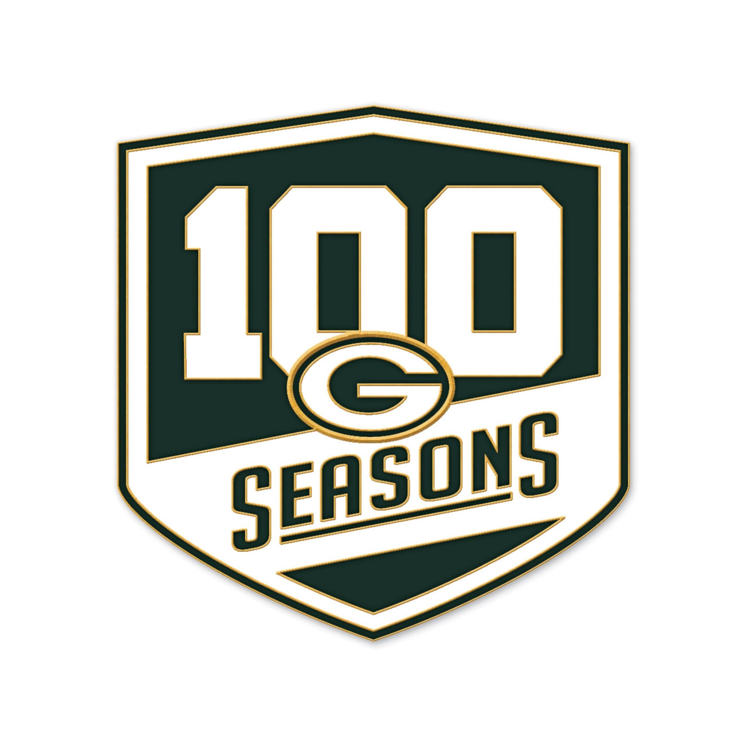 Packers 100 Seasons Logo Pin Green Bay Packers Green Bay Packers Gifts Green Bay Packers Football